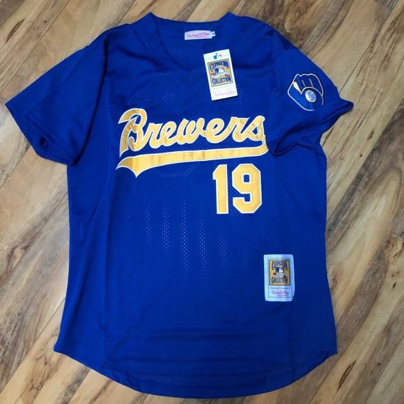 8764c40b Mitchell & Ness Shirts | Nwt Robin Yount Milwaukee Brewers Retro ...